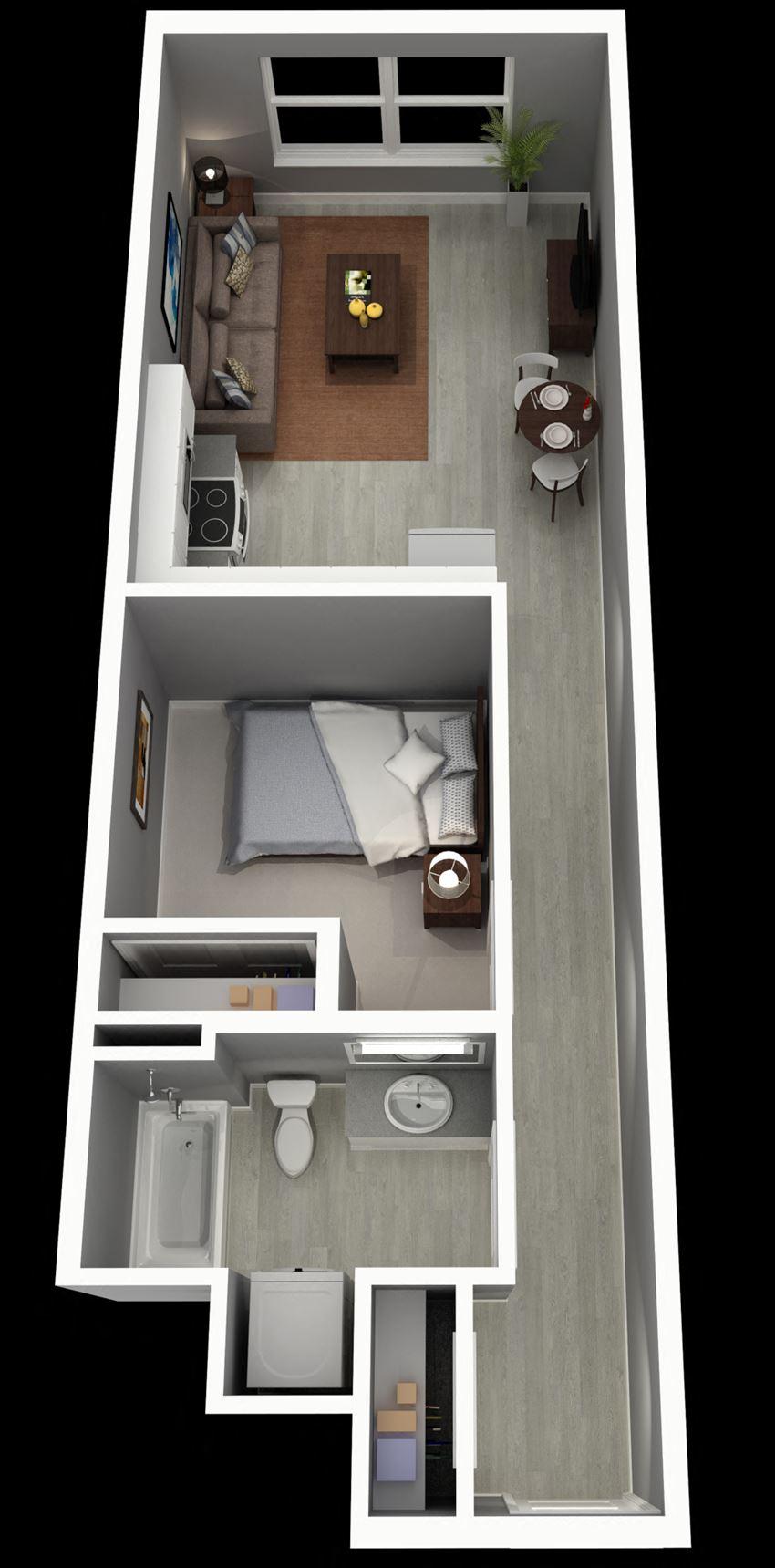 1 Bedroom, 1 Bath - Emerald