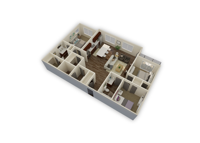 Axis w/garage floor plan
