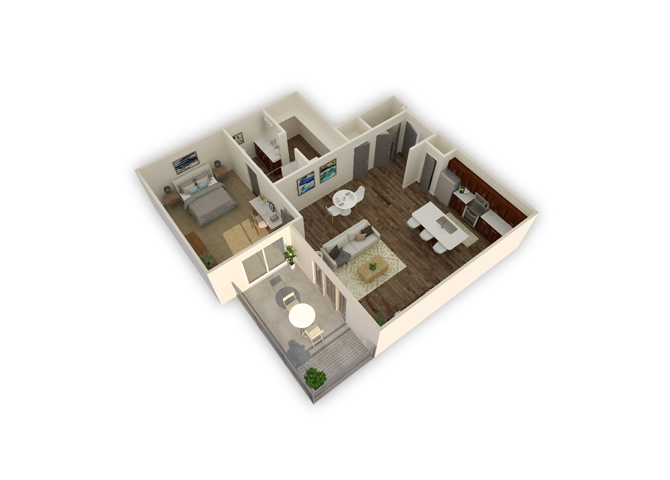 Capricorn w/garage floor plan