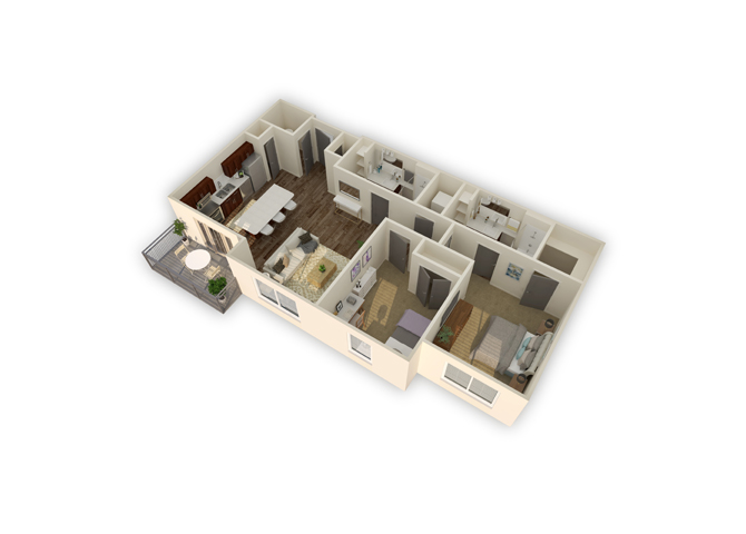 Tropic w/garage floor plan