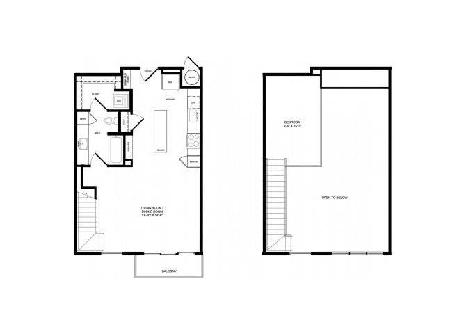 A2-ALT Mezzanine floor plan.