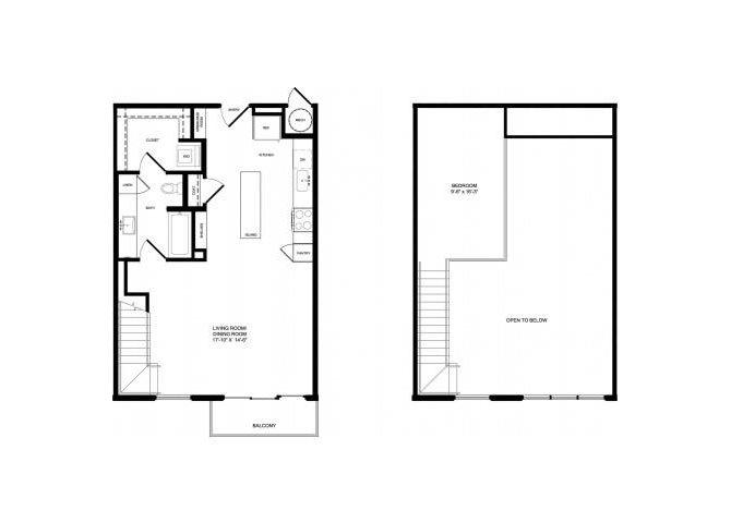 A2 Mezzanine floor plan.