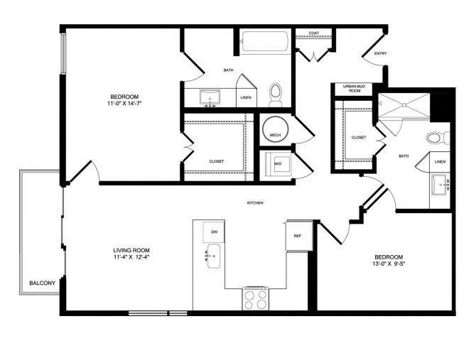 B7 floor plan.