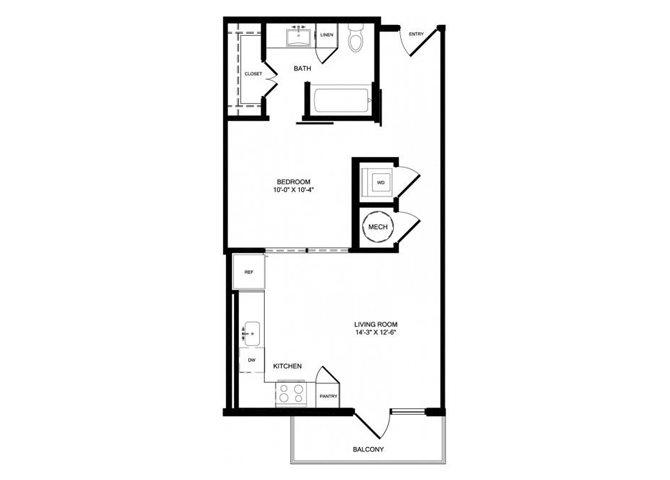 E1 floor plan.