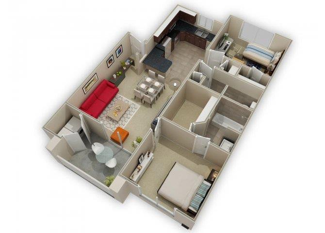 B2 floor plan.