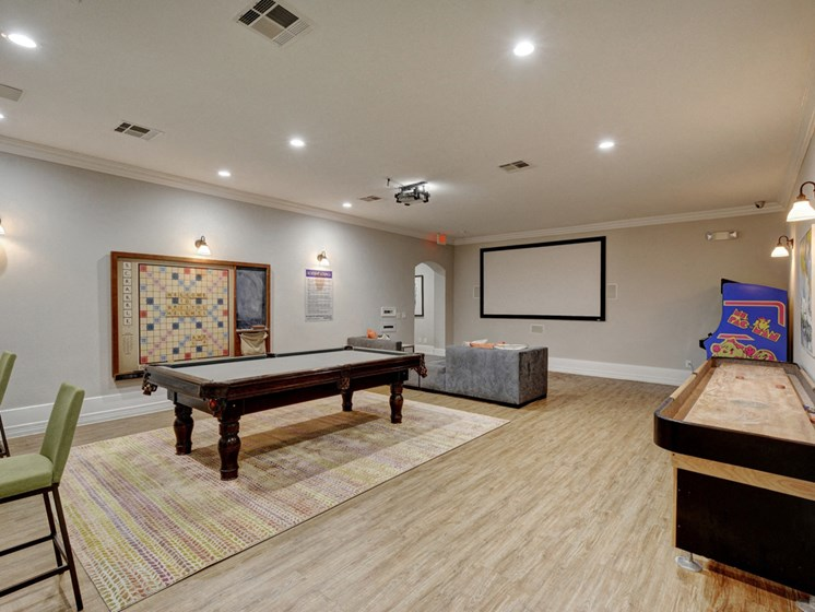 clubroom with pool table