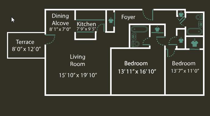 Floor Plans Of Thomas Wynne Apartments In Wynnewood Pa