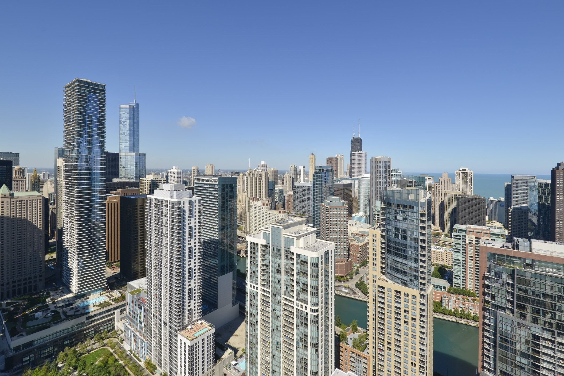 Chicago skyline view | North Harbor Tower Apartments in Chicago, IL