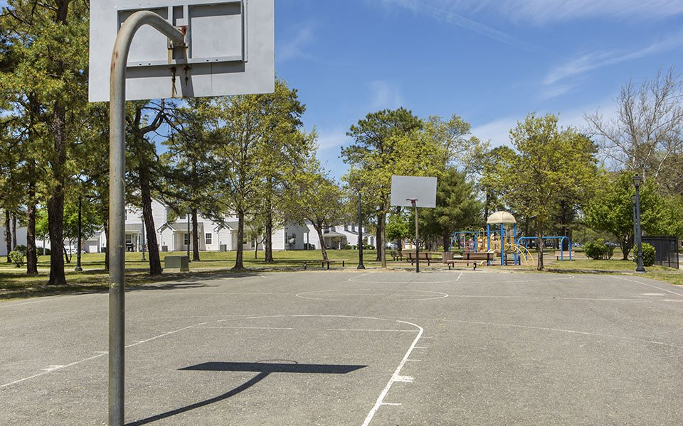 Lakehurst Homes basketball court