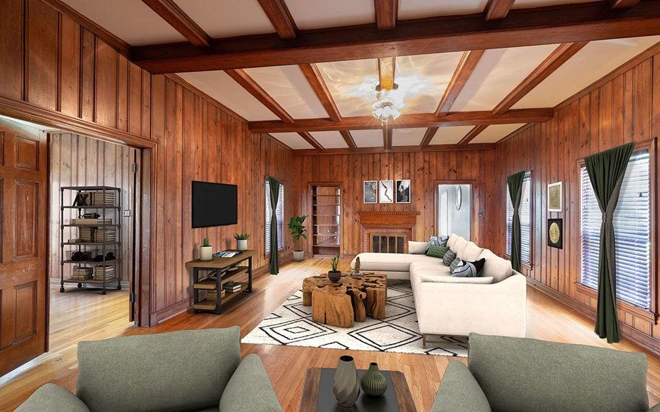 Captains Row living room