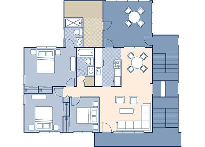 Truman Annex 1002 Floor Plan 7