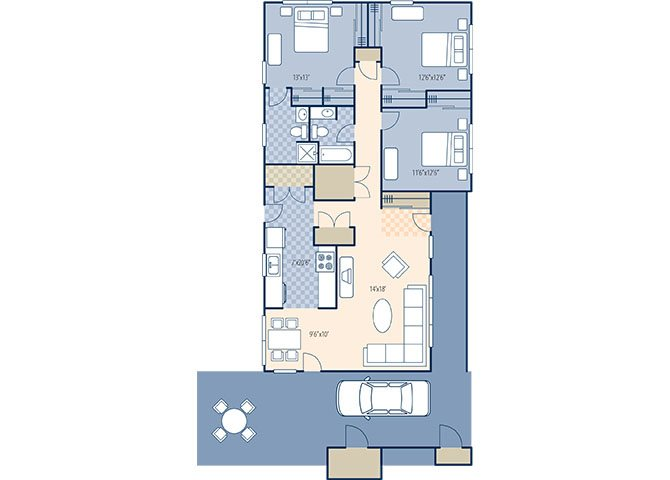 Juniper Ridge 1372 Floor Plan 1