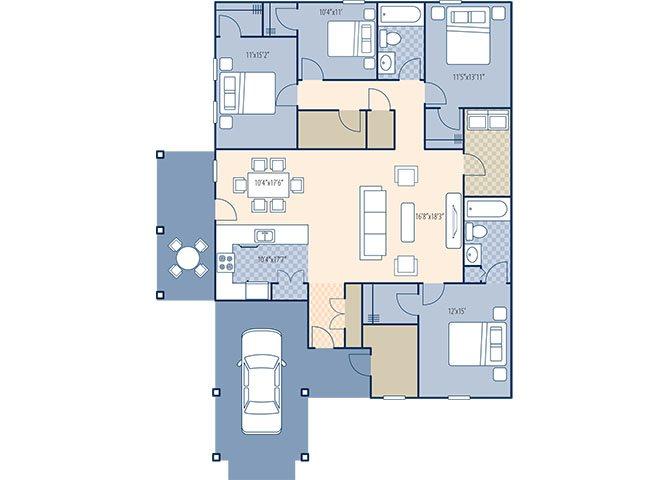 Pine Crest 1950 Floor Plan 15
