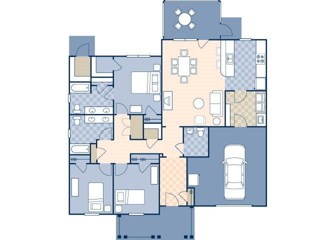 Andrew Jackson Court 1700 B Floor Plan 2