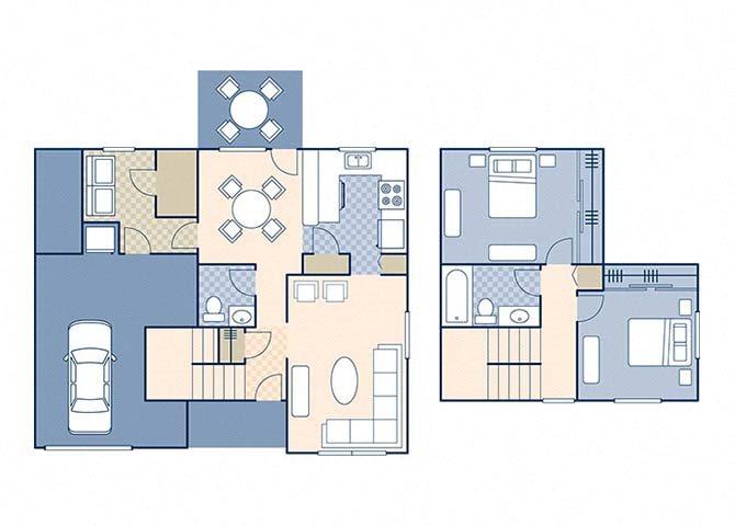 Magnolia I 950 Floor Plan 2
