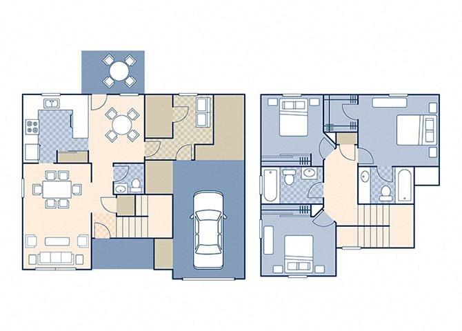 Magnolia I 1198 B Floor Plan 4
