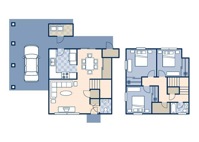 Green Acres 1350 Floor Plan 1