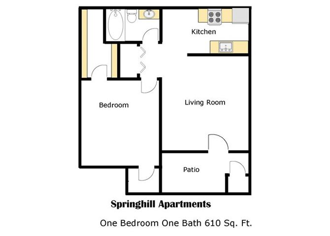 ONE BEDROOM - B Floor Plan 1