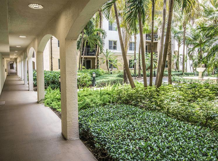 Vizcaya Lakes tropical landscaping in Boynton Beach, Florida
