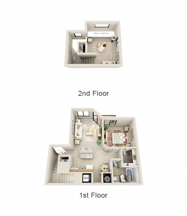 1 Bed Loft Floor Plan 3