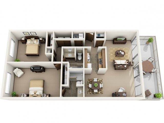 Oak Floor Plan 5