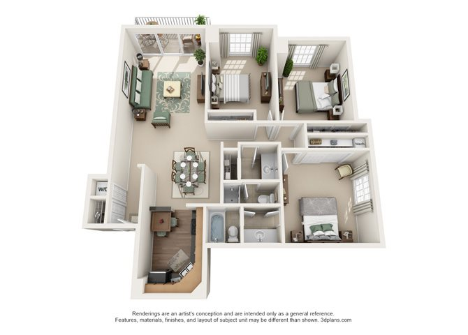 Versailles - Oakbrook Floor Plan 6