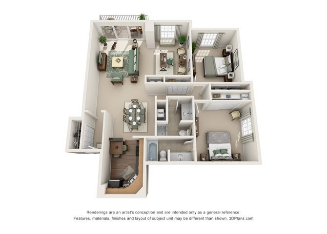 Versailles  - West Floor Plan 14