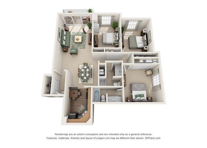 Versailles  - West Floor Plan 13