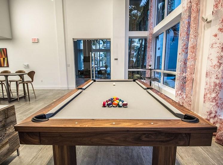 Santorini resident social room with billiards table