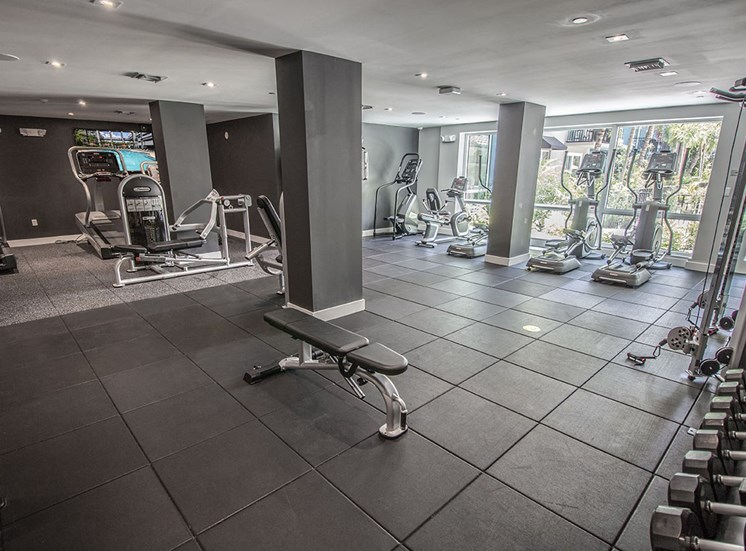 State-of-the-art fitness center at Santorini apartments in Boynton Beach
