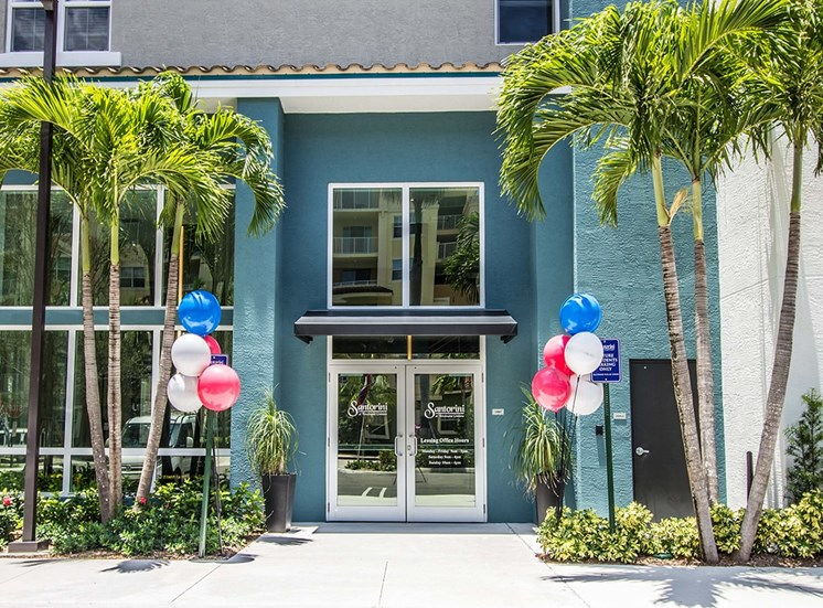 Santorini apartments leasing office in Florida