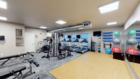 fitness center, gym equipment, workout room