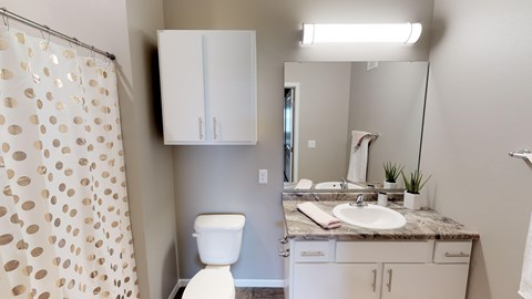 bathroom, apartments, grand apartments,fargo apartments