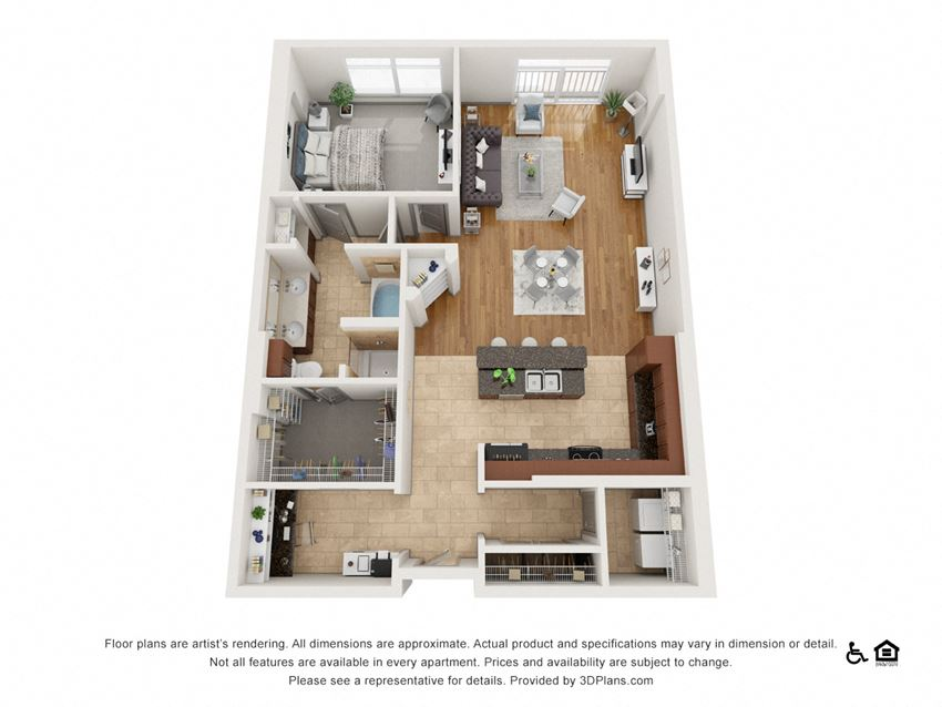 C Floor Plan at The Residence at SouthPark, Charlotte