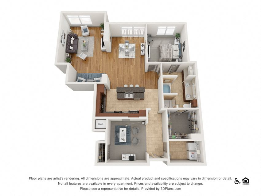 D Floor Plan at The Residence at SouthPark, North Carolina