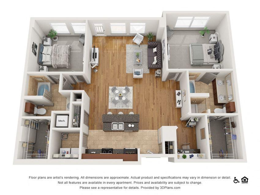 F Floor Plan at The Residence at SouthPark, North Carolina, 28211