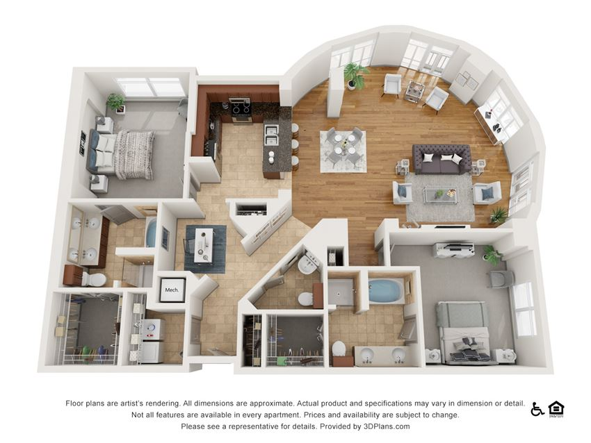 Ha Floor Plan at The Residence at SouthPark, Charlotte, NC, 28211