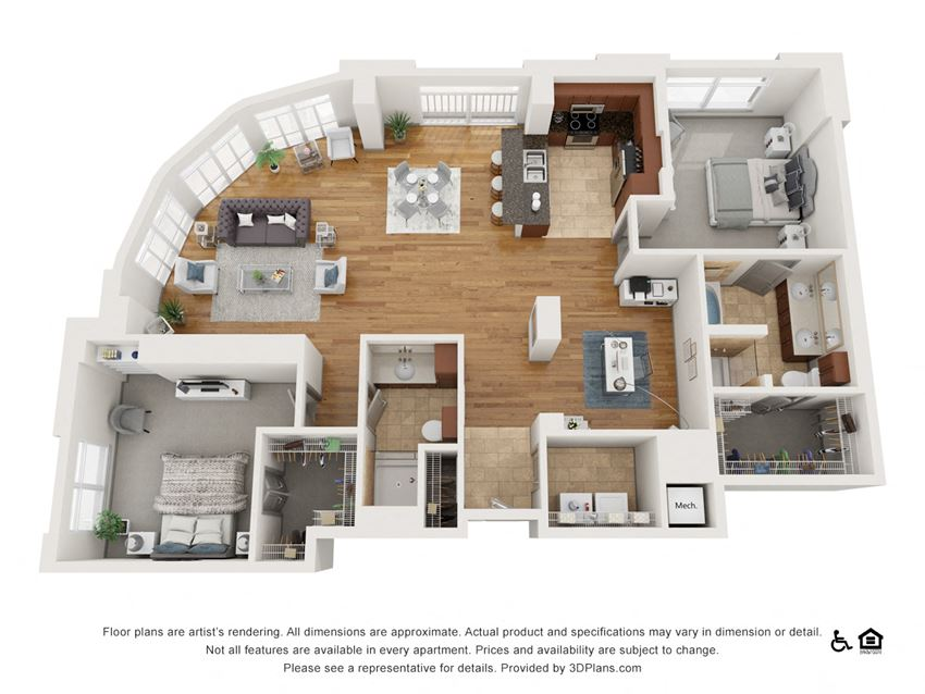 I Floor Plan at The Residence at SouthPark, Charlotte, NC