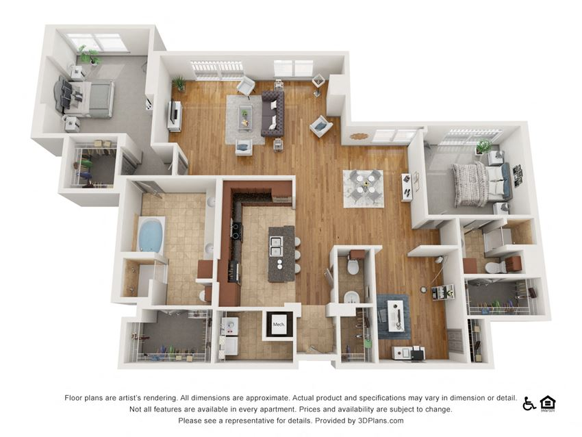 N Floor Plan at The Residence at SouthPark, Charlotte