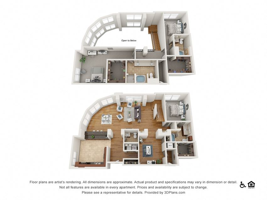 PH10 Floor Plan at The Residence at SouthPark, Charlotte