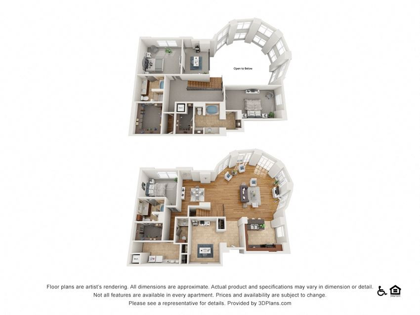 PH11 Floor Plan at The Residence at SouthPark, Charlotte, NC, 28211