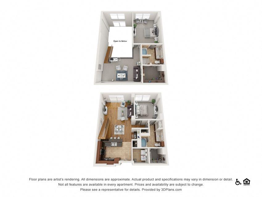 PH2 Floor Plan at The Residence at SouthPark, North Carolina, 28211