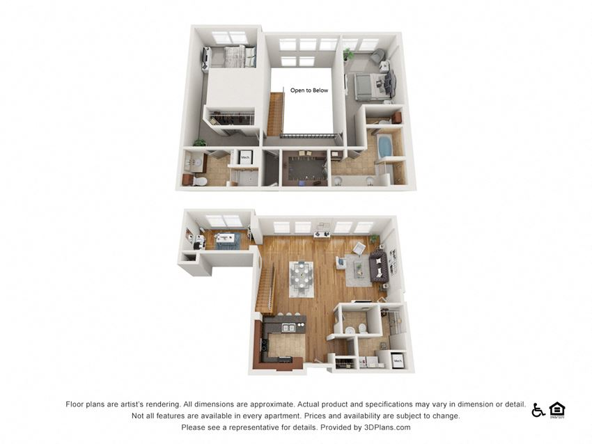 PH3 Floor Plan at The Residence at SouthPark, Charlotte, NC, 28211