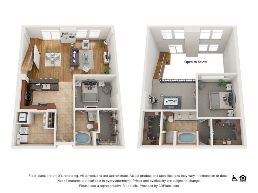 PH4 Floor Plan at The Residence at SouthPark, Charlotte, 28211