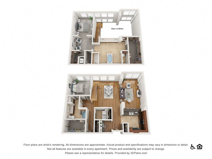 PH6 Floor Plan at The Residence at SouthPark, Charlotte