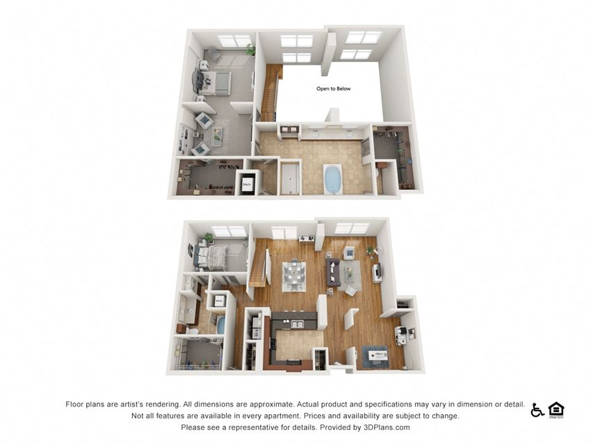 PH7 Floor Plan at The Residence at SouthPark, Charlotte, NC