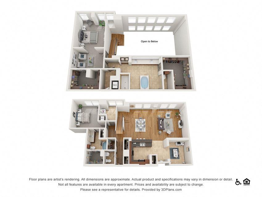 PH8 Floor Plan at The Residence at SouthPark, North Carolina, 28211