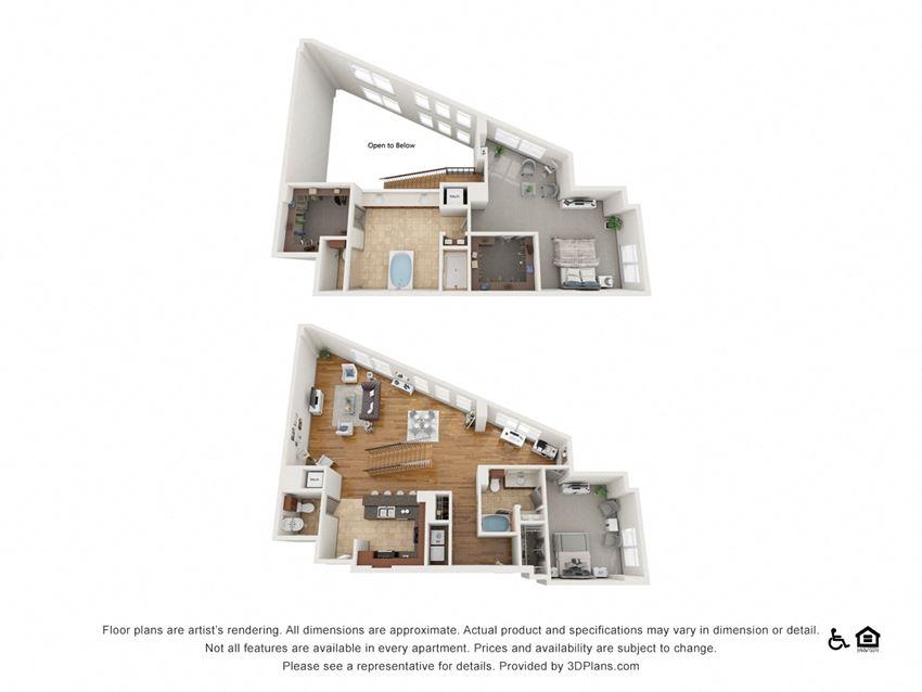 PH9 Floor Plan at The Residence at SouthPark, Charlotte, North Carolina