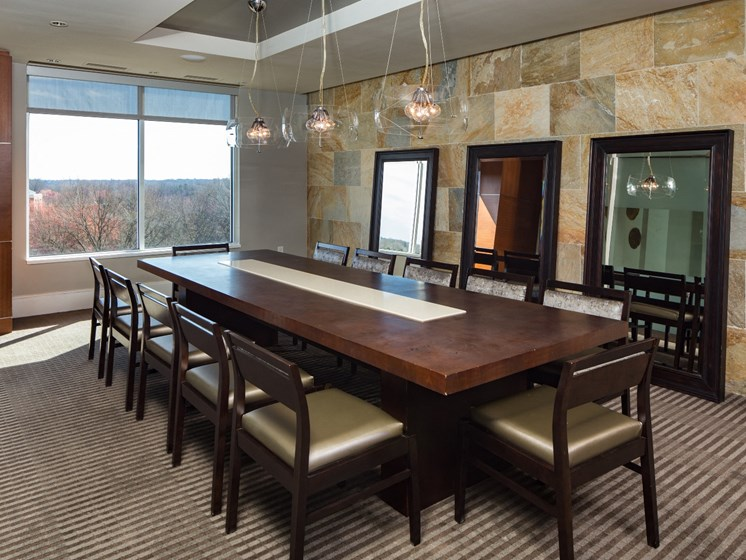 Conference Room at The Residence at South Park Apartments in Charlotte, North Carolina