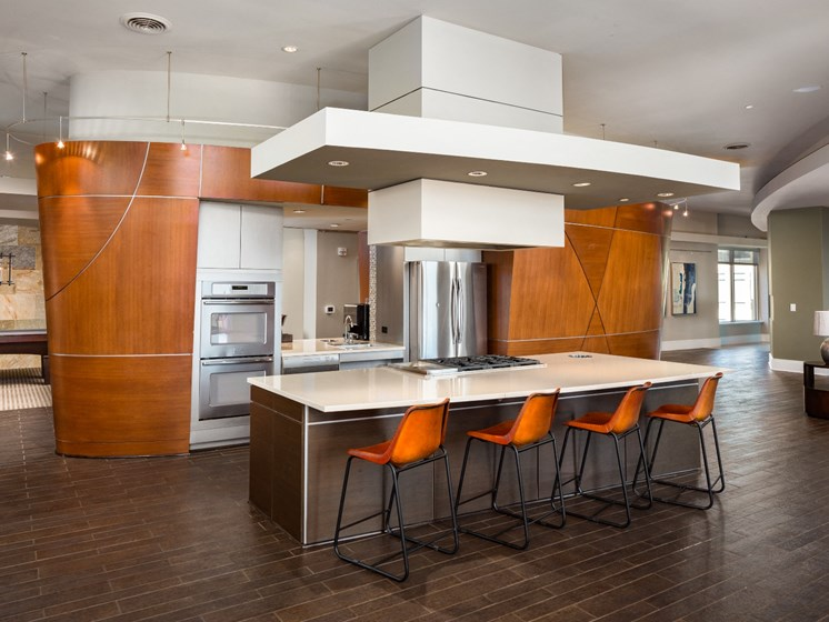 Community Kitchen at The Residence at South Park Apartments in Charlotte, North Carolina
